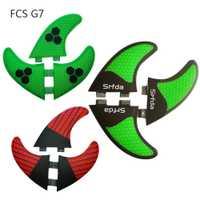 4 colores FCS G7 (3 unidades) fibra de carbono quilhas de surf honeycomb fcs tablas de surf aletas propulsor pranchas de sup aletas un