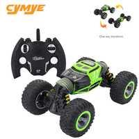 Cymye RC coche 4WD doble cara 2,4 GHz una llave transformación vehículo todo-terreno Varanid escalada coche control remoto camión de Control