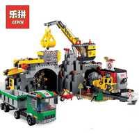 2018 nuevo Lepin 02071 Serie de la ciudad mina Set modelo y edificio bloques ladrillos 4204 niños educativos juguetes de Navidad regalo