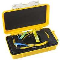Envío gratuito/SC/UPC-SC/APC OTDR zona muerta eliminador de fibra anillos de fibra óptica OTDR Cable de lanzamiento caja de 1 km SM 1310/1550nm