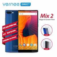 Original Vernee mezclar 2 Cámara Dual teléfono inteligente 4 GB 64 GB 6,0 pulgadas de pantalla 18:9 vidrio diseño Android 7,0 13MP teléfono móvil 4200 mAh