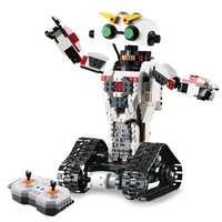 C51027 710 piezas 2in1 de Control remoto RC deformación Robot bloques de construcción técnica Motor humanoide juguetes para niños de regalo