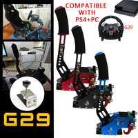 PS4 + PC freno de mano USB + abrazadera para juegos de carreras G295/G27/G29/G920 T300RS Logitech piezas de Repuesto de sistema de freno de mano