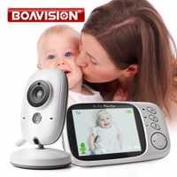 VB603 Video Monitor de bebé 2,4G inalámbrico con pantalla LCD de 3,2 pulgadas 2 Audio hablar de vigilancia de la visión nocturna cámara de seguridad niñera