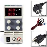 Reguladores de voltaje KPS305D 30 V 5A interruptor de alimentación DC 0,1 V 0.01A pantalla Digital ajustable Mini DC power suministro
