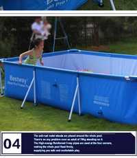 170 Bestway 259*56403*61 cm lona plegable grande soporte rectangular Piscina/marco cuadrado piscina de apoyo para toda la familia