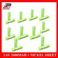 100% original 2600 mAh 3.6 V batería recargable soldadura de níquel Sábanas baterías de litio 18650 para zhuoneng