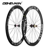 OG-EVKIN de carretera de carbono ruedas 50mm UD tejido 700C ruedas de bicicleta de 3 k de superficie ruedas de carbono rueda de bicicleta de carretera 271-372 centros
