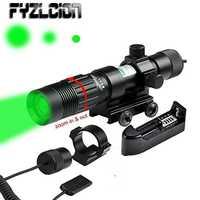 FYZLCION ajustable verde láser indicador/iluminador/linterna W/Weaver montaje