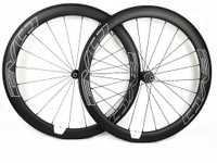 EVO blanco calcomanías 700C de carbono bicicleta de carretera ruedas 50mm Profundidad 25mm ancho cubierta/Tubular bicicleta de carretera de carbono ruedas UD mate