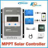 Rastreador 10A 20A 30A 40A 1210AN 2210AN 3210AN 4210AN con MT50 Metro MPPT controlador de carga Solar 12 V 24 V EPEVER PV regulador