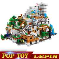 En stock educativos 18032 bloques ladrillos mecanismo 3043 piezas la cueva de montaña Mis Mundos Compatible con legoed21137 regalos de navidad