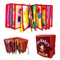 Bébé dessin animé éducation tissu livre Non-tissé à la main peinture Animal livre bricolage matériel paquet enfant 3D conte de fées tissu livre