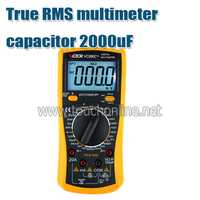 Multímetro digital true RMS multímetro condensador 2000 UF Backlight herramientas TVC890D