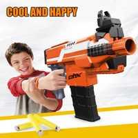 1 unid plástico de juguete pistola eléctrica pistola Airsoft pistola con 20 piezas balas suaves Arma segura Arma armas juguetes para niño regalo