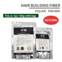 25g + 50g + 100g bolsa de repuesto de fibra de cabello reciclada de la mejor calidad queratina ajuste Construcción de pérdida de cabello fibras para el crecimiento a cambiar los productos