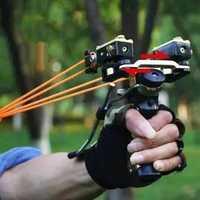 Slingshot láser rojo profesional potente Catapulta de pesca arco de acero inoxidable Slingshot accesorios de herramienta de caza al aire libre