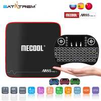 SATXTREM MECOOL M8S PRO W Android 7,1 TV Box Amlogic S905W Quad Core 2 GB RAM DDR3 16 GB caja de la TV inteligente WiFi 4 K H.265 Set Top Box