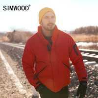 SIMWOOD 2018 Hiver Chaud Vers Le Bas Veste Hommes 90% Gris Vers Le Bas Manteaux Homme 2018 Mode Casual col montant Outwear Plus La Taille 180292