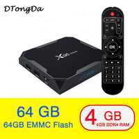 Nuevo X96 Max Amlogic S905X2 Android 8,1 Smart TV BOX 4 K 4 GB Media Player 64 GB X96Max DDR4 QuadCore USB3.0 2,4g y 5 GHz Wifi Dual