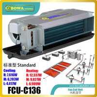 Oculta horizontal bobina de ventilador unidad (FCU) es controlado por un manual sobre/interruptor o por un termostato en aire acondicionado