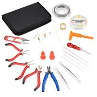 De herramientas de joyería DIY conjuntos de joyería alicates agujas ganchos de los pendientes joyería accesorios mezclado Color 22x14,5x3 cm