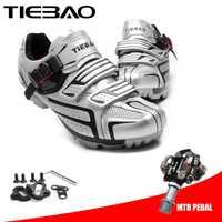 TIEBAO ciclismo zapatos sapatilha ciclismo mtb 2019 zapatos de bicicleta de montaña zapatillas hombre deportiva en bicicleta hombres zapatillas de deporte de las mujeres