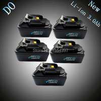 5 piezas nuevo Li-ion 3000 mAh batería de repuesto para Makita 18 V BL1830 LXT400 194205-3 194230 -4 18 voltios