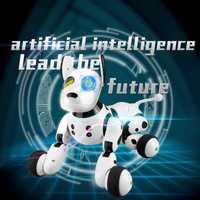 2,4G inalámbrico de Control remoto inteligente perro mascota electrónica de los niños educativos juguete perro Robot sin caja de regalo de cumpleaños