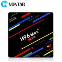 2018 VONTAR H96 MAX Plus Android 8,1 caja de TV inteligente Set top Box Rockchip RK3328 4 GB 32 GB 64 GB GB USB3.0 H.265 4 K PK T9 HK1 X96.