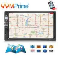 AMPrime 7010G 2 Din Car Radio navegación GPS Autoradio Bluetooth USB AUX MP3 de Audio estéreo FM Radio 2din Multimedia jugador Cámara