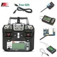 FLYSKY FS-i6X i6X 10CH 2.4GHz AFHDS 2A émetteur RC avec récepteur X6B iA6B A8S iA10B iA6 pour Drone de course RC FPV