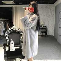 Abrigo de piel de visón natural para mujeres 2020 abrigos cálidos de invierno de alta calidad grueso prendas de vestir de talla grande para mujeres chaqueta 813 MF334