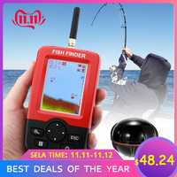 Buscador de peces de profundidad portátil inteligente con Sensor de Sonar inalámbrico de 100 M, sonda de eco, detector de peces LCD para pesca en el mar del lago, agua salada