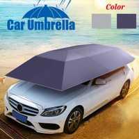Tente de voiture couverture de toit parapluie pliable Oxford tissu tente de voiture étanche à la poussière Anti-UV Protection de voiture parapluie pare-soleil couverture