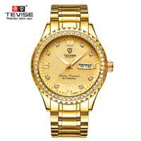 Reloj Mecánico de lujo TEVISE para hombre, Reloj de pulsera de negocios, Reloj de pulsera para hombre, Reloj automático de moda para la Semana de la fecha