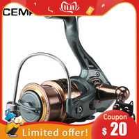 CEMREO 11 + 1BB pesca carrete giratorio de Metal carrete girar rollo de 2000 de 3000 a 4000