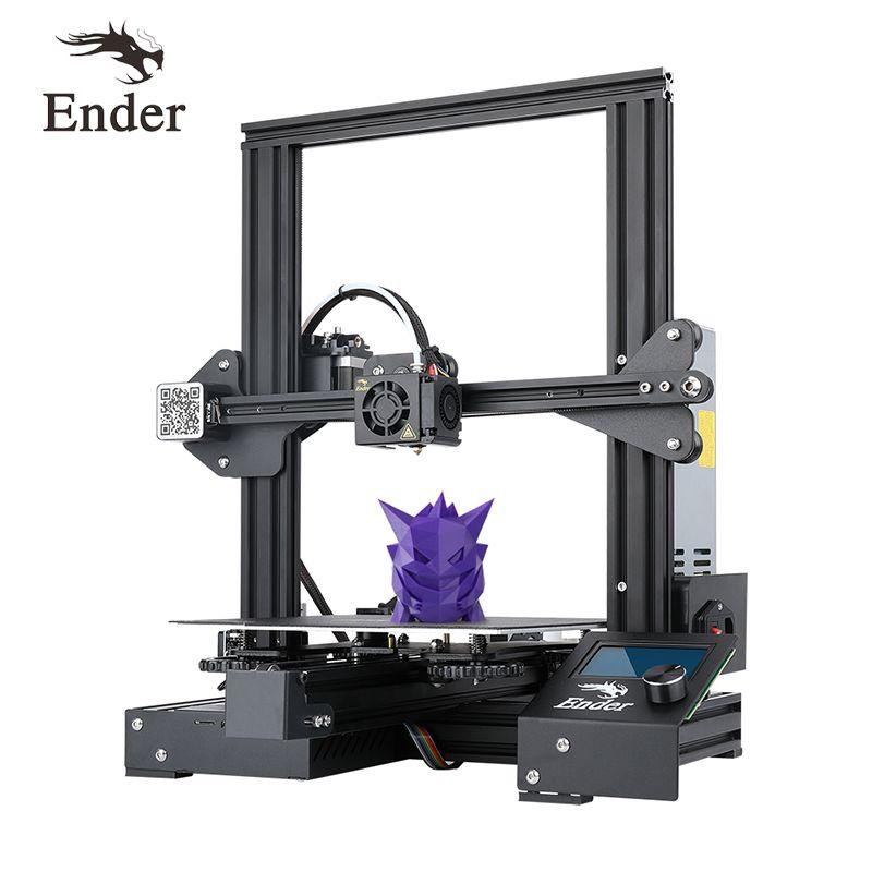 SZR US $239.00 Ender-3 PRo 3D printer DIY Kit Large Size I3 mini ender-3pro printer 3D Continuation Print Power Creality 3D