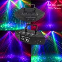 Laser Multi de balayage de couleur de rvb de 6 lentilles avec des modèles/Scanner de modèle de faisceau/lumière Laser de décor d'étape de partie de Disco de DJ/Laser d'éclairage d'étape