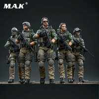 JOYTOY 1/18 escala US Marine Corps acción soldados de juguete 5 figuras Set JTUS003 regalo coleccionable para niños colección de niños