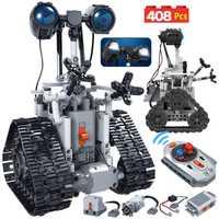 Creativo ERBO 408 Uds ciudad RC Robot de la técnica de bloques de construcción de Control remoto inteligente Robot de ladrillos regalo de juguetes de los niños
