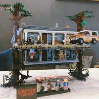 2499 pièces legoinglys étranger choses tournant le monde à l'envers blocs de construction briques ensemble enfants jouets cadeau