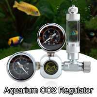 Regulador de acuario CO2 G5/8 válvula de retención magnética de solenoide ip65resistente al agua de acuario contador de burbujas herramienta de tanque de peces CO2 Control 220V