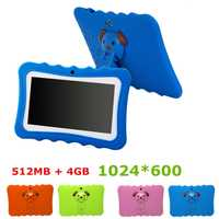 7 pouces enfants tablette Android double caméra Wifi éducation jeu cadeau pour garçons filles, bleu ue Plug