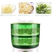 Casa de brotes de soja máquina de Capa 2 eléctrica automática germinador semilla verdura crecimiento de plántulas de cubo 110V/220V