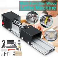 200W CNC Mini tour Machine outil torno bricolage travail du bois tour fraiseuse meulage perles de polissage perceuse outil rotatif ensemble