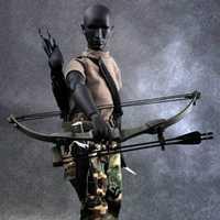 Escala de 1:6 X-TOYS macho niño arco negro y flecha Flecha de disparo conjunto modelo F 12
