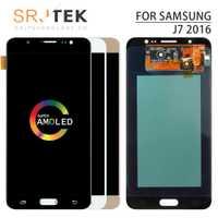 AMOLED para Samsung Galaxy J7 2016 J7108 pantalla LCD J7109 J7108F pantalla táctil digitalizador montaje de cristal para Samsung J7109 J7108F