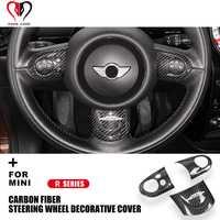 R55 R56 R57 R58 R59 R60 R61 Clubman Countryman pour Mini Cooper couverture de volant en Fiber de carbone décoration intérieure autocollants