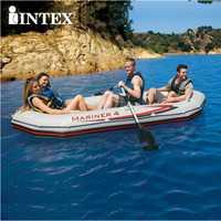 INTEX 68376 bote de pesca inflable de cuatro personas Material profesional de goma de marinero de PVC con bomba de mano de paleta